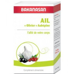 Ail Olivier Aubépine 72 capsules Bakanasan