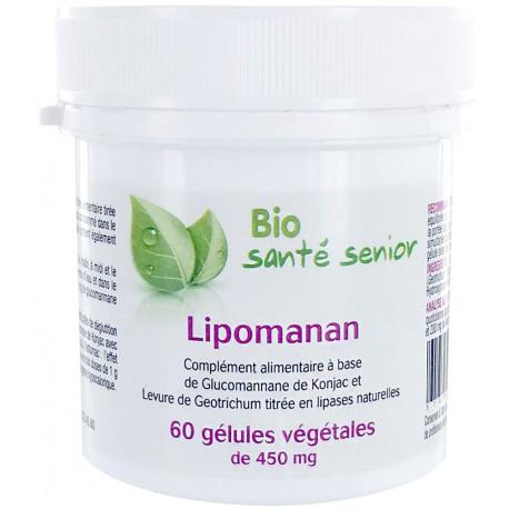 Lipomanan 60 gélules végétales konjac Lipase spécifique Bio Santé Senior