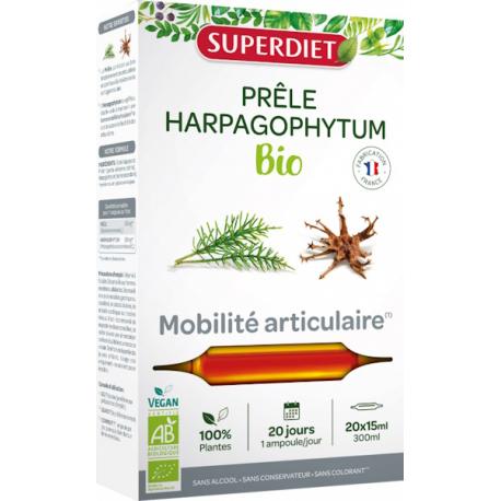 Prêle Harpagophytum Bio 20 ampoules de 15ml Super Diet