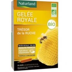 Gelée Royale 1500 mg Bio 20 ampoules Naturland