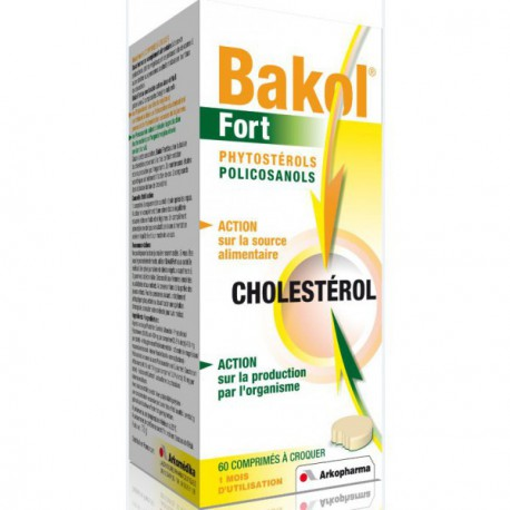Bakol Fort Phytosterols et policosanols 60 comprimés Arkopharma
