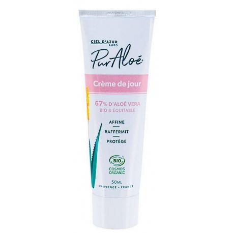 Crème hydratante Aloé Vera 50ml Puraloe - 67 % de jus d'aloe vera frais - bio sante senior