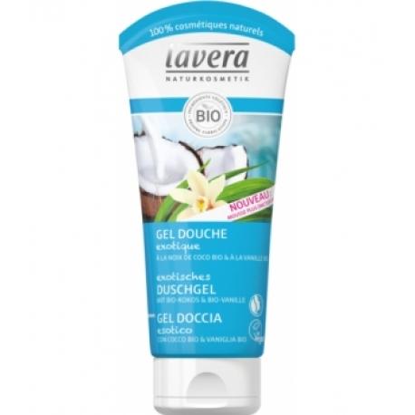 Gel douche exotique Vanille Rêve de Coco 200ml Lavera gel douche bio bio santé senior