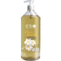 Shampooing douche Fleurs Blanches 1Litre C'BIO - bio sante senior