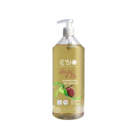 Shampooing douche Fruits d'Eté 1 Litre C'BIO - bio santé senior