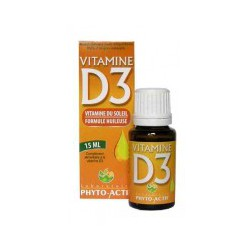 Vitamine D3 Flacon compte gouttes 15ml- Phyto-actif