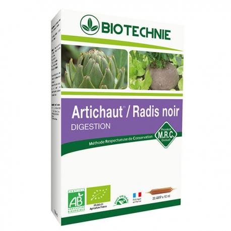 Artichaut Radis Noir Bio 20 ampoules de 10ml Biotechnie foie Bio santé senior