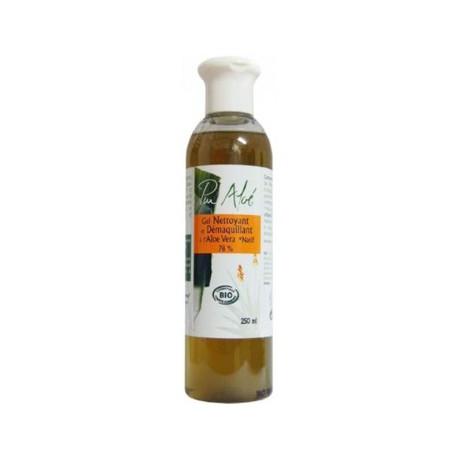 Gel Nettoyant Démaquillant Bio à l'Aloe Véra  250ml Puraloe bio sante senior