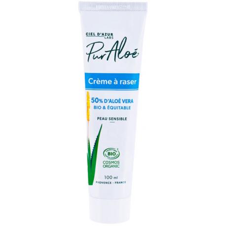 Crème à Raser à l'Aloe Vera 50 % 100ml Pur'aloe mousse à raser bio santé sénior