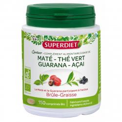 Quatuor maté guarana thé vert acai Bio 150 + 37 comprimés Super Diet