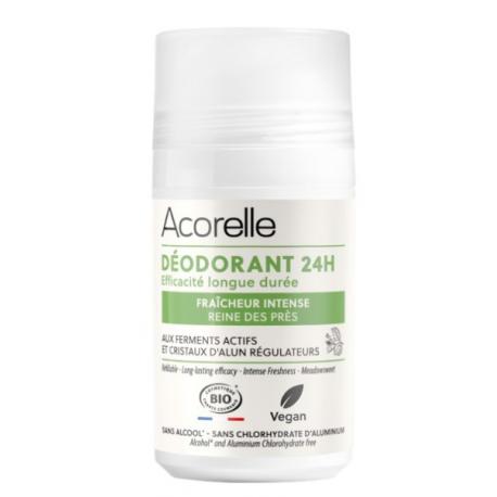 Déodorant soin efficacité longue durée Cristaux d'Alun et eau florale de Reine des prés 50 ml Acorelle