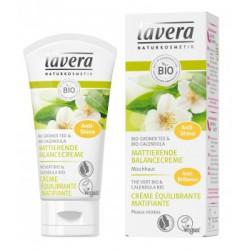 Crème équilibrante matifiante Thé vert bio 30ml Lavera