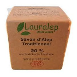 Savon d'Alep traditionnel à 20% d'huile de laurier 200gr Lauralep