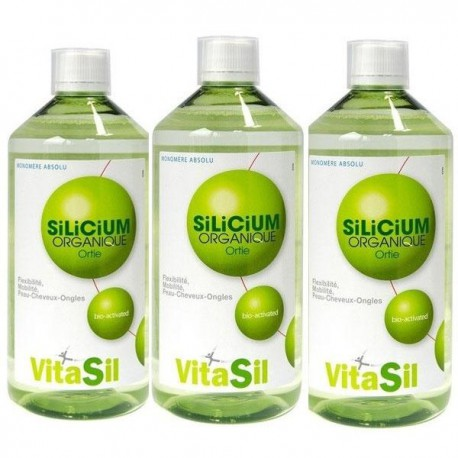 vitasil silicium organique lot de 3 flacons de 500ml