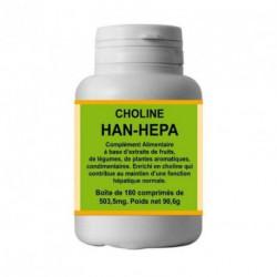 Han hepa 180 comprimés, choline le génie hépatique, han biotech,bio santé sénior,