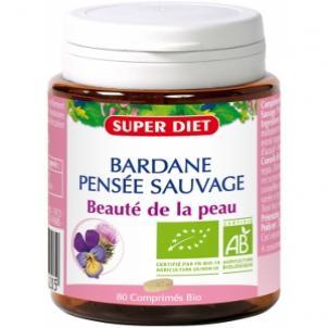 Bardane Pensée Sauvage bio  80 comprimés Super Diet