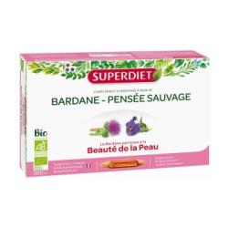 Bardane Pensée Sauvage Bio 20 ampoules de 15 ml Super Diet