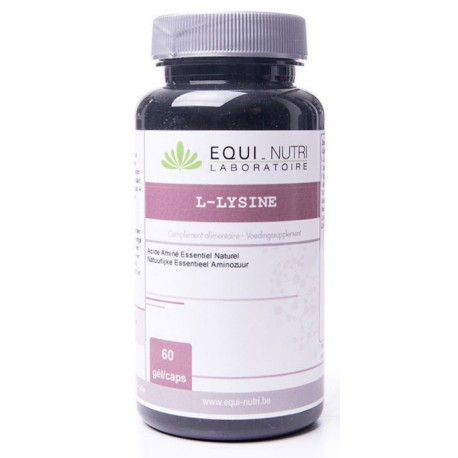 L  Lysine 500 - 60 gélules végétales 500mg Equi Nutri