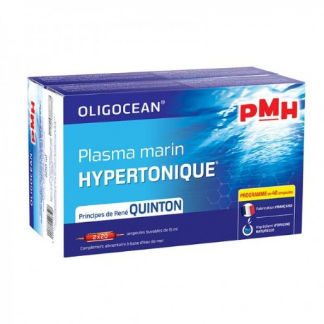 PMH Plasma marin hypertonique 2x20 ampoules 15ml Super Diet