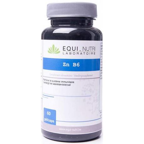 Zinc vitamine B6 - 60 gélules végétales Equi Nutri