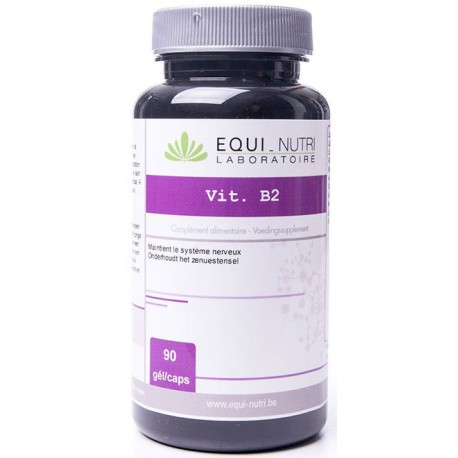 Vitamine B2 Riboflavine 90 gélules végétales Equi Nutri