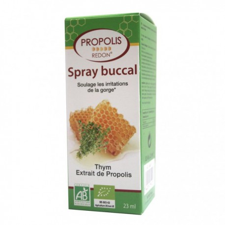 Spray buccal apaisant à la Propolis 23ml Redon - spray propolis bio