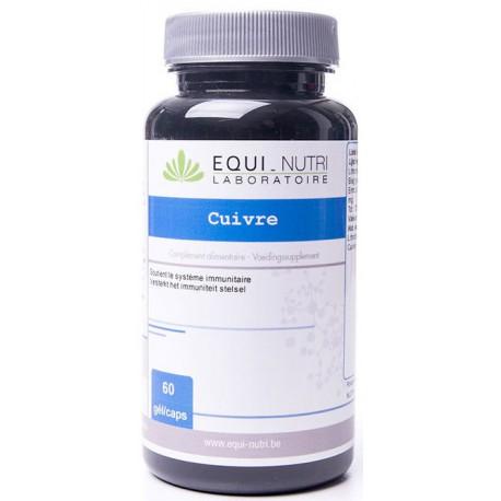 Cuivre 60 gélules végétales de 5mg Equi Nutri