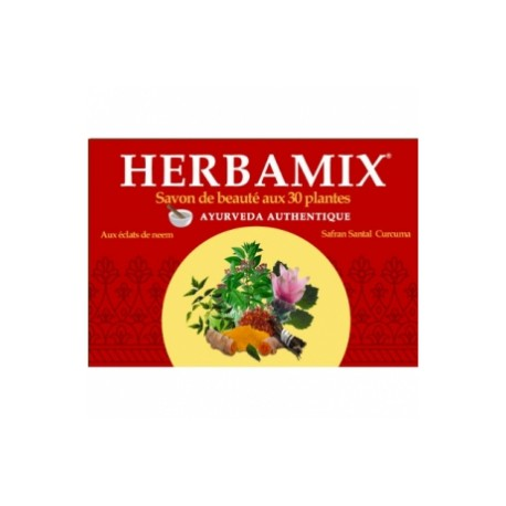 Savon ayurvédique Herbamix 30 plantes 125 g Kerala Nature