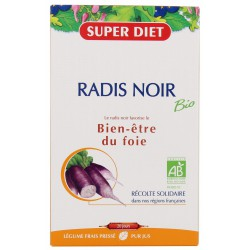 Radis Noir Bio 20 ampoules de 15ml Super Diet