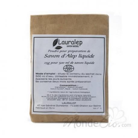 Préparation pour savon liquide d'Alep pour sachet de 500 ml 25g Lauralep