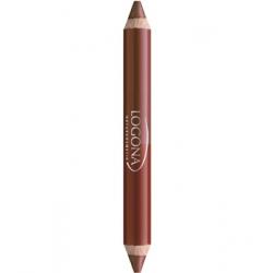 Rouge à lèvres duo crayon n° 2 Chesnut 2.98 g - Logona