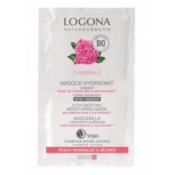 Masque hydratant lissant rose de Damas bio / KalparianeTM 2 x 7,5 ml Logona