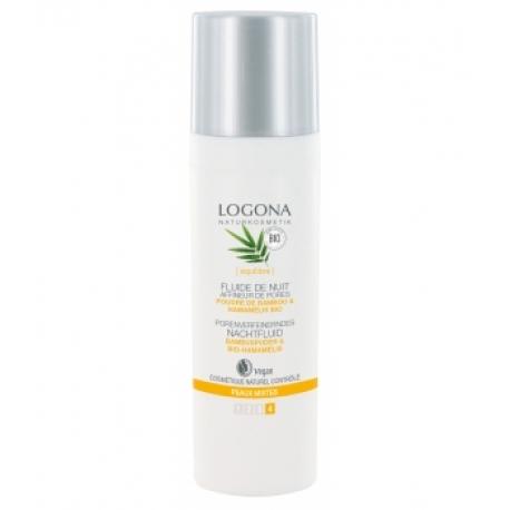 Fluide de nuit affineur de pores bambou / hamamélis bio 30 ml Logona