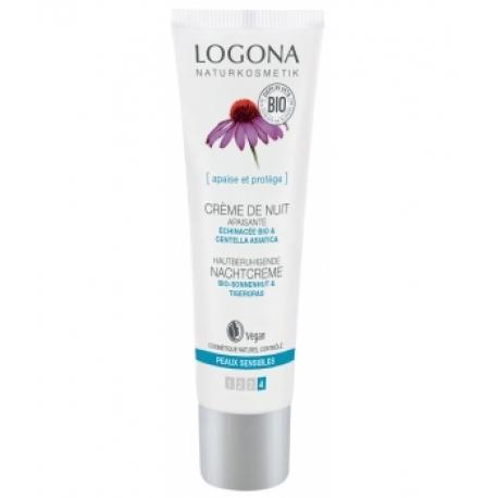 Crème de nuit apaisante  Echinacée bio / Centella asiatica 30 ml Logona