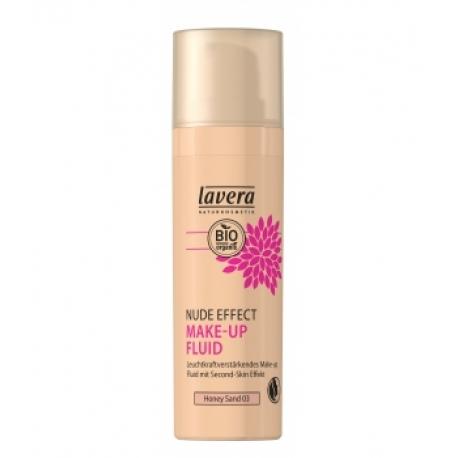 Nude Effect Make Up Fluid Honey Sand 03 30 ml Lavera