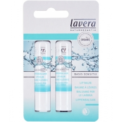 Duo baume à lèvres jojoba Bio et beurre de karité BASIS 2 x 4.5 grammes Lavera