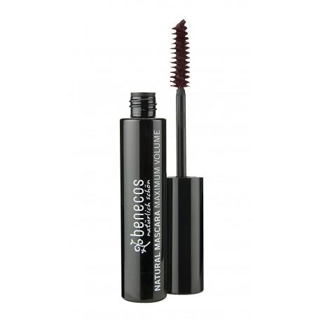 Mascara maxi volume noir intense deep black 8ml Benecos - produit de maquillage bio Bio sante senior