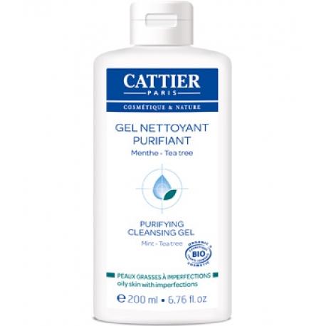 Gel nettoyant purifiant Peaux jeunes à problèmes 200 ml Cattier
