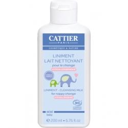 Liniment Lait nettoyant pour le change 200 ml Cattier