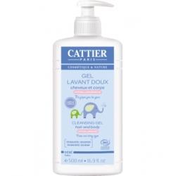 Gel lavant doux sans savon pour bébé 500 ml Cattier