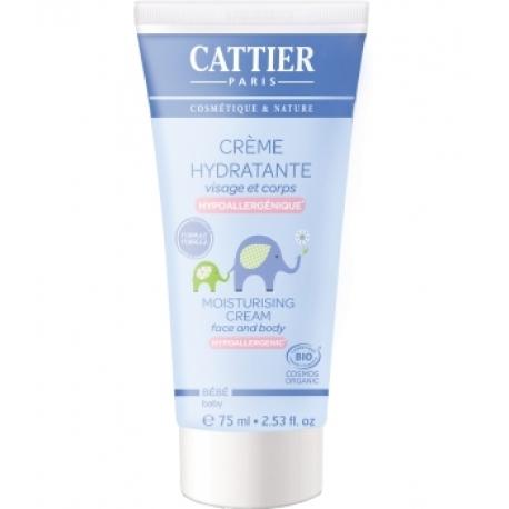 Crème hydratante bébé Visage Corps à l'Amande douce 75 ml Cattier