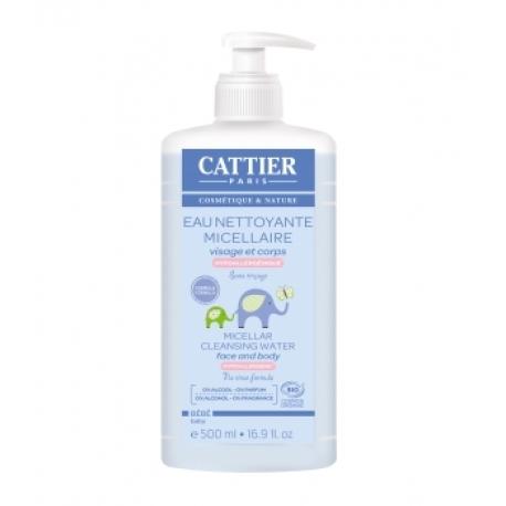 Eau nettoyante micellaire bébé Amande douce Calendula  500 ml Cattier