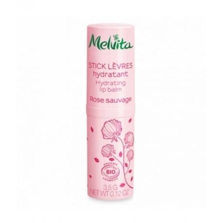 Stick lèvres hydratant Rose Sauvage 3,5g Melvita - stick lèvres bio