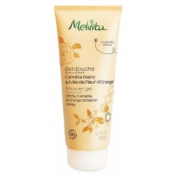 Gel douche camélia blanc miel de fleur d'oranger 200 ml Melvita