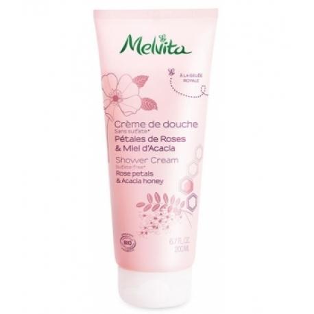 Crème de douche pétales de roses miel d'acacia 200 ml Melvita