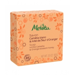 Savon Camélia et fleur d'oranger 100 gr - Melvita