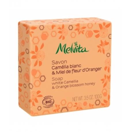 Savon Camelia et fleur d'oranger 100 gr Melvita - savon bio - bio sante senior