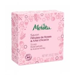Savon Pétales de rose et miel d'acacia 100 gr - Melvita