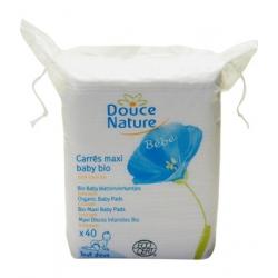60 carrés Maxi Baby coton bio équitable Douce Nature