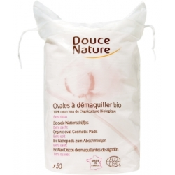 50 Ovales à démaquiller coton bio 50 gr Douce Nature